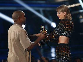 Mit Zärtlichkeiten ist jetzt Schluss. Kanye West und Taylor Swift gehen wohl wieder getrennte Wege.