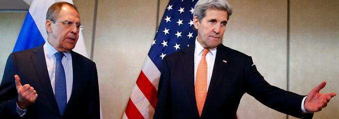 Nicht immer einer Meinung: Russlands Außenminister Lawrow und sein US-amerikanischer Kollege Kerry.