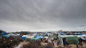 Das Flüchtlingslager in Calais.