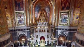 So sieht es mitunter in einer russisch-orthodoxen Kirche aus.