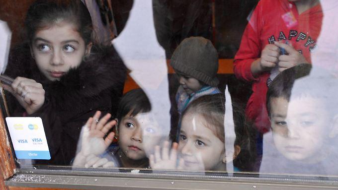 Flüchtlingskinder in Finnland.