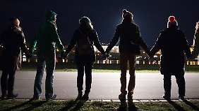 Die Stadt Dresden ruft seit mehreren Jahren zur Menschenkette auf.
