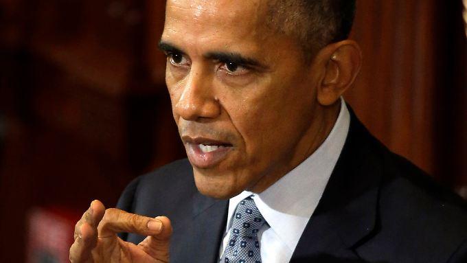"""Obama fordert, dass Russland künftig """"eine konstruktive Rolle"""" in Syrien spielt."""