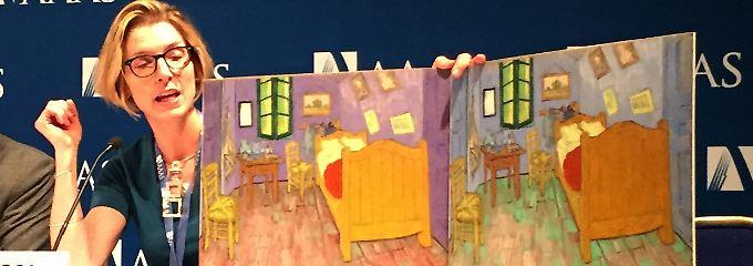 """Ursprünglich war es lila: das """"Schlafzimmer in Arles""""."""