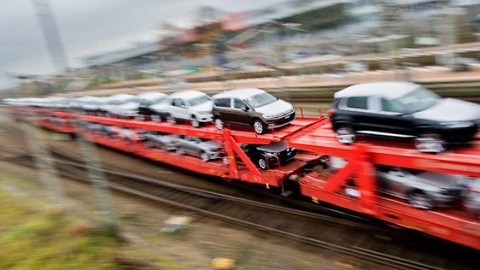Die Menge der auf der Schiene transportierten Güter ist rückläufig.