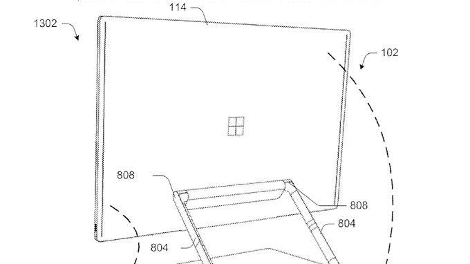 So stellt sich Microsoft laut Patentantrag den modularen All-In-One-PC vor.
