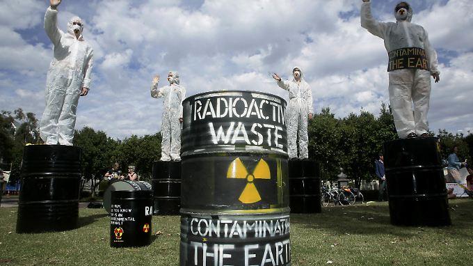Umweltaktivisten in Melbourne, Australien.
