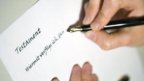Wer sicher gehen will, dass sein Testament vollstreckt wird, sucht sich auch einen Ersatz.