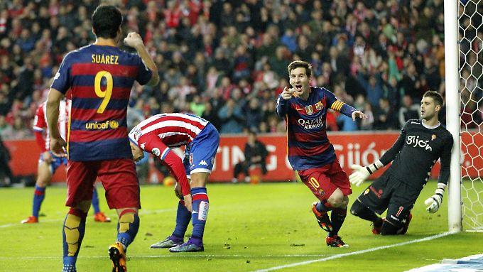 Lionel Messi trifft und trifft und trifft.