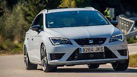 Mit dem Seat Leon Cupra 290 lässt sich mehr anstellen, als nur auf der Straße zu fahren.