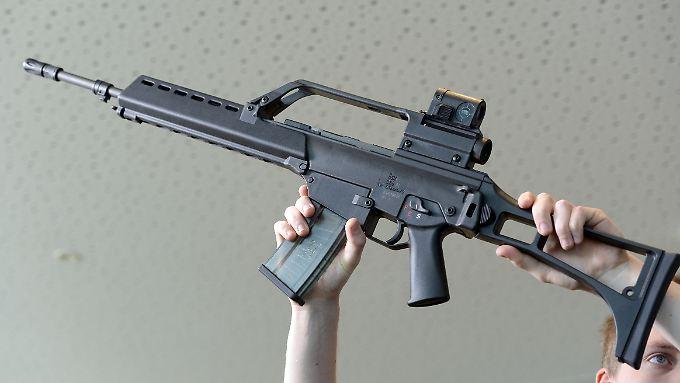 Ein  Sturmgewehr G36 von Heckler und Koch.