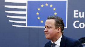 Folgen eines möglichen Brexit: Cameron will in Brüssel nicht klein beigeben