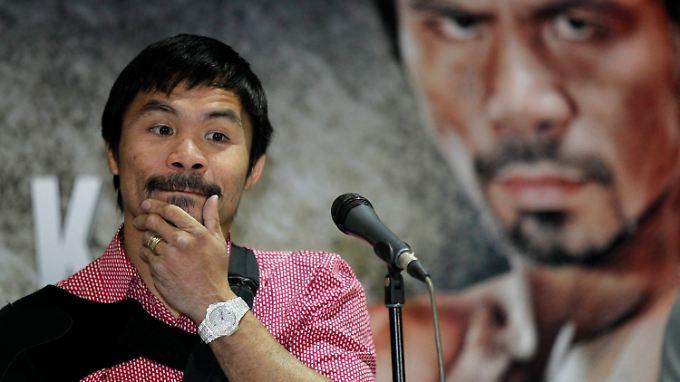 Hat offenkundig ein großes Problem mit Homosexuellen: Der philippinische Box-Held Manny Pacquiao.