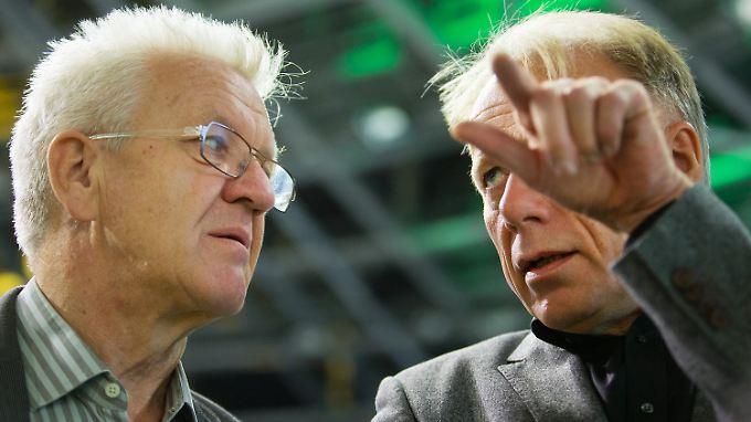 Winfried Kretschmann und Jürgen Trittin bei einer gemeinsamen Veranstaltung im Jahr 2013.