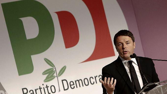 Renzi stimmt seine Parteikollegen auf seinen Kampf für die Homo-Ehe ein.