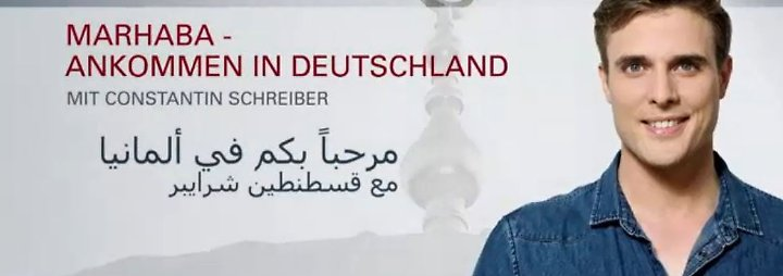 """""""Marhaba"""" mit Constantin Schreiber: Steffen Seibert erklärt das Integrationsgesetz - mit arabischem Untertitel"""