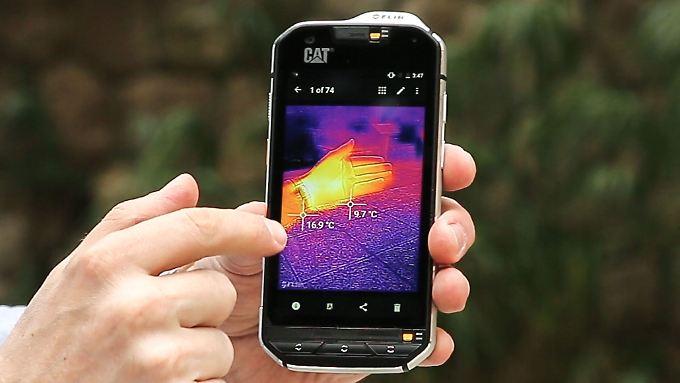 Das Cat S60 ist das erste Smartphone mit Wärmebildkamera.