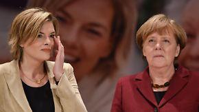 Zwei Kurse in der Flüchtlingspolitik: Merkel lässt sich von Klöckner nicht verunsichern
