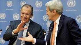 US-Außenminister Kerry (r.) und sein russischer Amtskollege Lawrow.