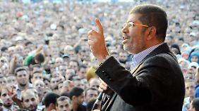 Ägyptens Ex-Präsident Mohammed Mursi im November 2012 vor seinem Sturz.