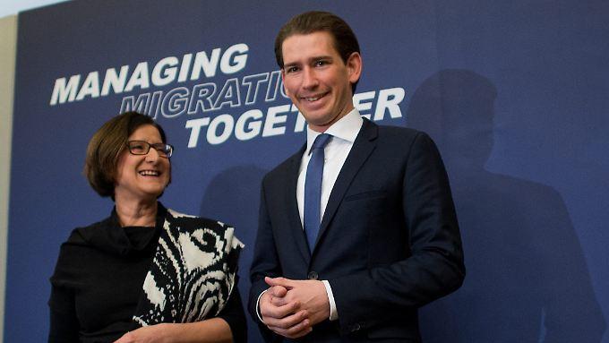 Österreichs Innenministerin Mikl-Leitner und Außenminister Kurz haben die Führung für die Balkan-Route übernommen.