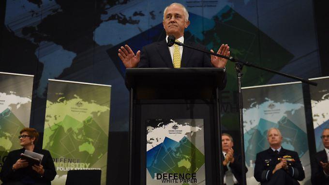 Regierungschef Malcolm Turnbull stellt das Projekt Weißbuch vor.