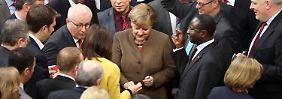 Alle Augen auf Angela Merkel bei der namentlichen Abstimmung