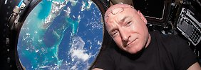 Fühlt sich auf der ISS ziemlich wohl: Scott Kelly