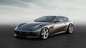 Der FF-Nachfolger GTC4 steht bei Ferrari auf dem Stand in Genf.