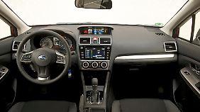 Der geräumige Innenraum im Subaru Impreza dürfte gefallen.