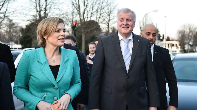"""Kritik an Gabriels """"Schnapsidee"""": Seehofer soll Klöckner den rechten Rand sichern"""