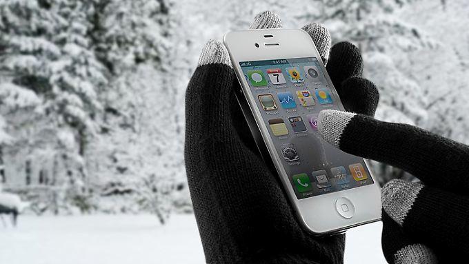 Auch Smartphone-Handschuhe wie die von Proporta schützen iPhones nicht vor der Kältestarre.