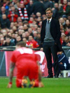 Jürgen Klopp sah, wie seine Liverpooler im Elfmeterschießen gegen Manchester City mit 1:0 in Führung gingen - und dann nichts mehr trafen.