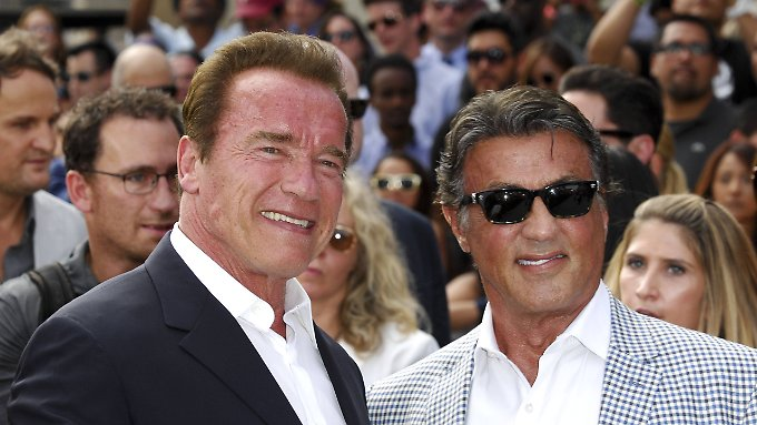 Freunde fürs Leben: Arnold Schwarzenegger (l.) & Sylvester Stallone.