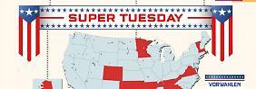 """US-Präsidentschaftswahlkampf: Der """"Super Tuesday"""" - eine erste Vorentscheidung"""