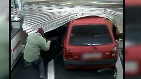 Blitz-Einbruch in 37 Sekunden: Diebe nutzen Auto als Rammbock