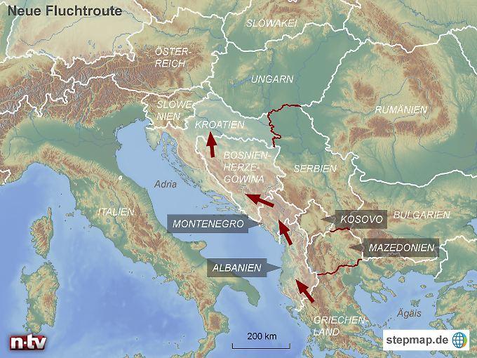 Griechenland ist derzeit für die meistern Flüchtlinge Endstation. Sie suchen nach neuen Wegen in Richtung Norden.