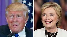 Trump und Clinton haben gute Chancen die Kandidaten für die Präsidentschaftswahl in den USA zu werden.
