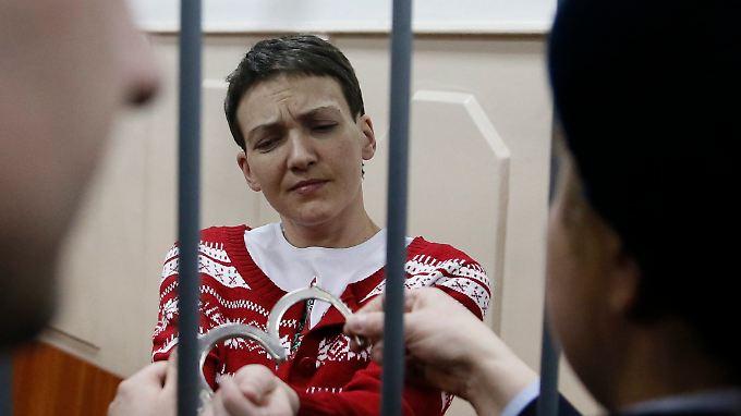 Nadja Sawtschenko befand sich 80 Tage lang im Hungerstreik.
