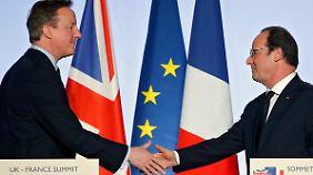 Die Flüchtlingskrise in Calais hatte in der Vergangenheit immer wieder zu Spannungen zwischen Paris und London geführt.