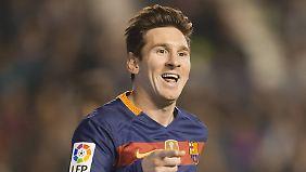 Dreimal zur Stelle: Lionel Messi.