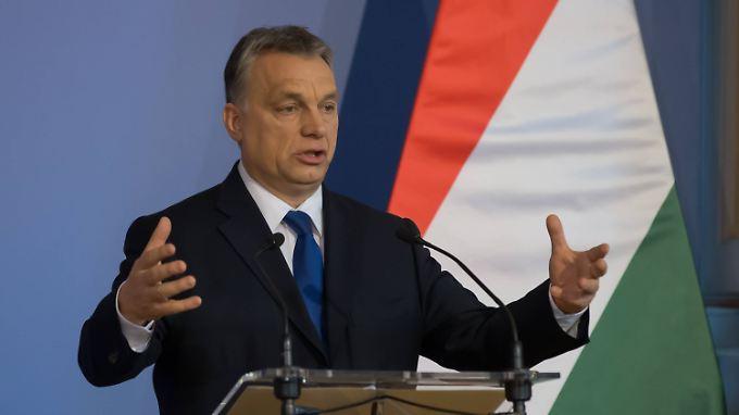 Ungarns Regierungschef Viktor Orban ist in der Flüchtlingskrise einer der Gegenspieler von Kanzlerin Angela Merkel.