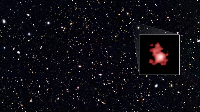 """Die Aufnahme des """"Hubble""""-Teleskops sieht wenig spektakulär aus, gibt aber neue Einblicke in die Entstehung des Universums."""