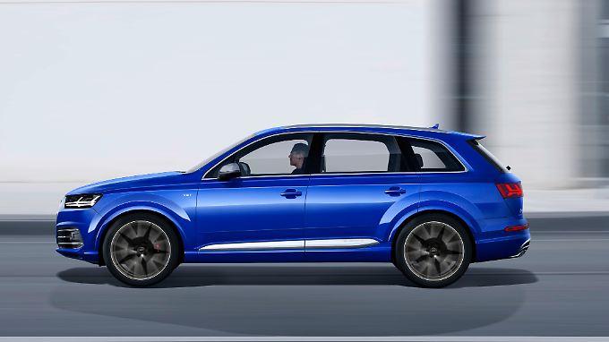 """Der Audi SQ7 TDI unterscheidet sich optisch kaum von einem """"normalen"""" Q7."""