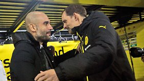 Abseits des Rasens sind Guardiola und Tuchel Freunde.