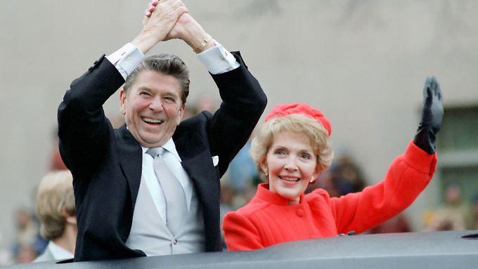 Nancy und Ronald Reagan am Tag seiner Amtseinführung 1981.