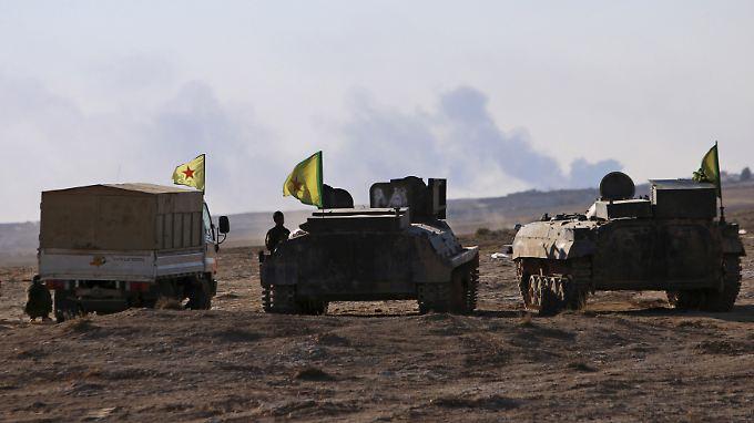 US-Hilfe hochwillkommen: Kurdische Kämpfer in der Provinz Hasaka (Archivbild).