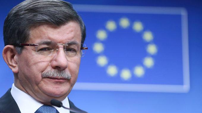 Ahmed Davutoglu stellte in Brüssel neue Forderungen