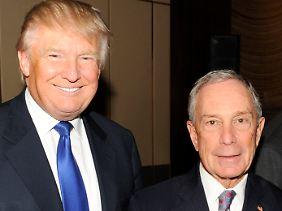 New Yorker unter sich: Trump (l.) und Bloomberg bei einem Society-Event vor drei Jahren.