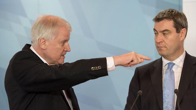 Die Beziehung zwischen Bayerns Ministerpräsident Seehofer und seinem Finanzminister Söder gilt als angespannt.